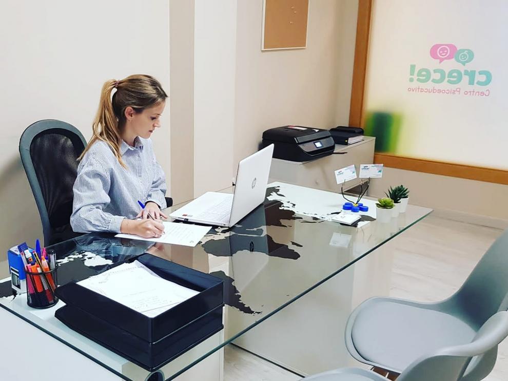 Crece Centro Psicoeducativo, en Villanueva de Gállego, es uno de los negocios femeninos subvencionados por la DPZ.