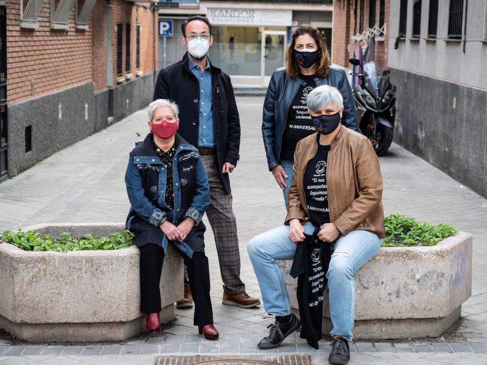 Cuatro miembros de la plataforma de afectados
