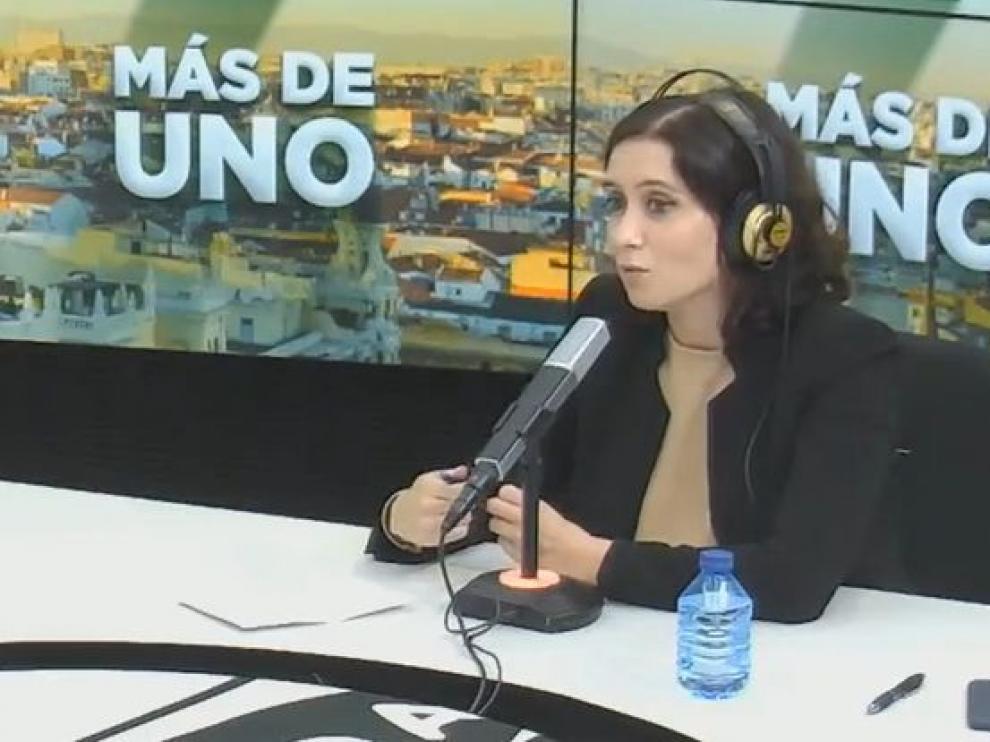 Entrevista a Díaz Ayuso en Onda Cero