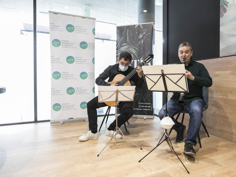 Pedro Mateo González y Francisco Antonio García, en la presentación del festival.