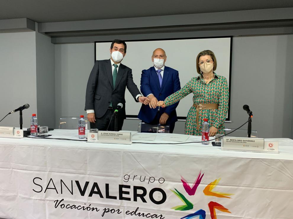 Ricardo Mur, César Romero y Berta Sáez.