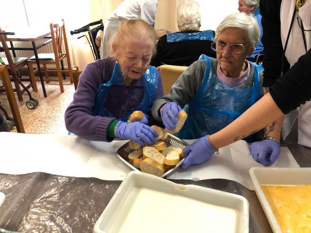 Una de las actividades que se han realizado últimamente en la residencia San Sebastián de Mallén.
