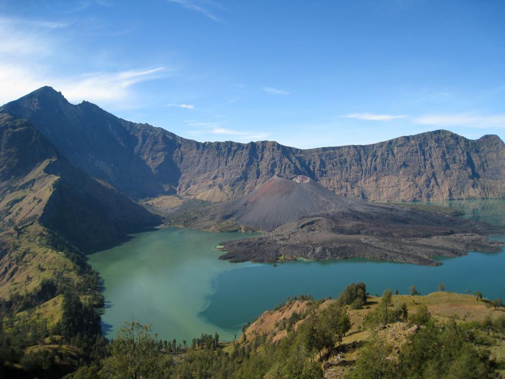 Volcán Samara, en la isla indonesia de Lombok.