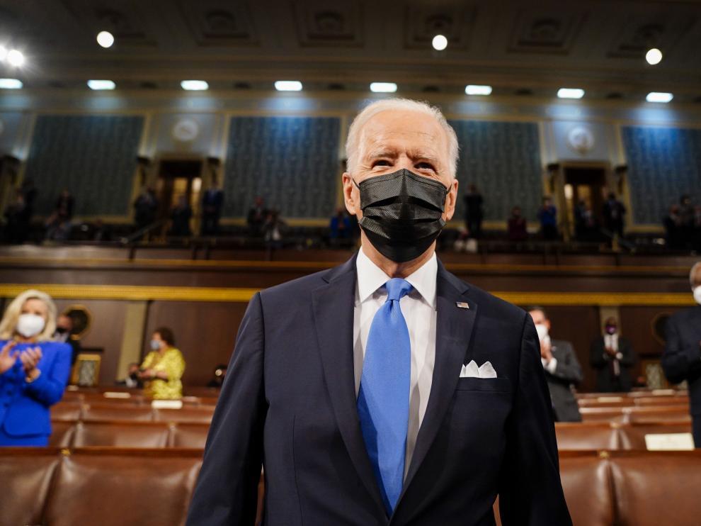 Biden, en su primer discurso ante el Congreso.