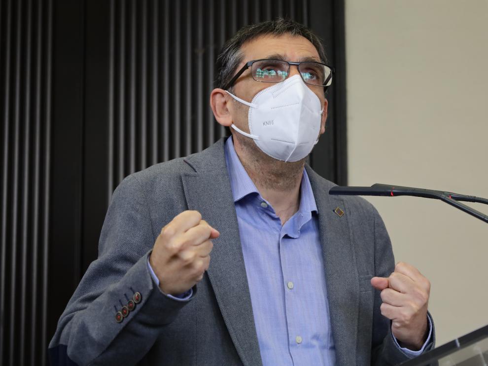 José Manuel García durante la presentación de su proyecto.