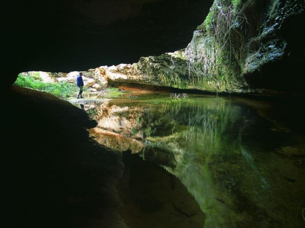 La cueva del Huerto, en el barranco de Valdoria.