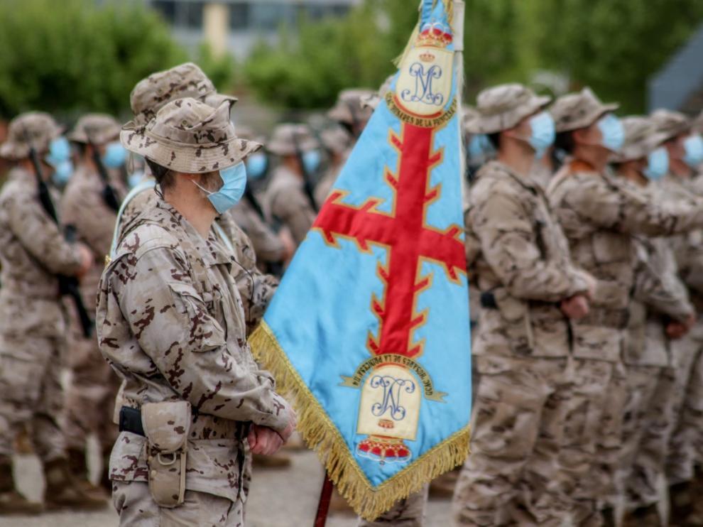 Acto de despedida de los militares de la Brigada Aragon que se van a Mali.