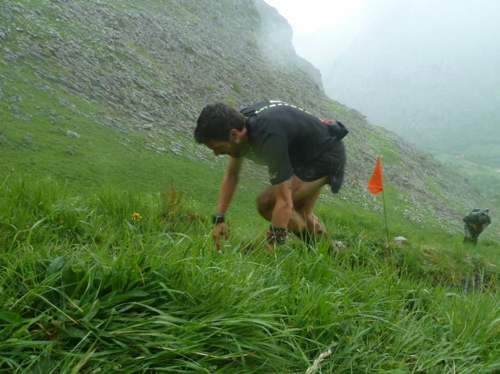 Corredores en una prueba de carreras por montaña