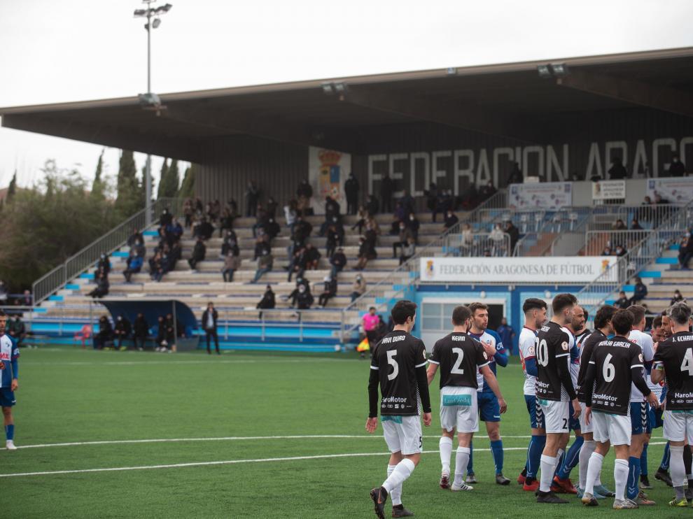 Imagen del Ebro-Haro de Segunda División B en su última temporada con esta denominación.