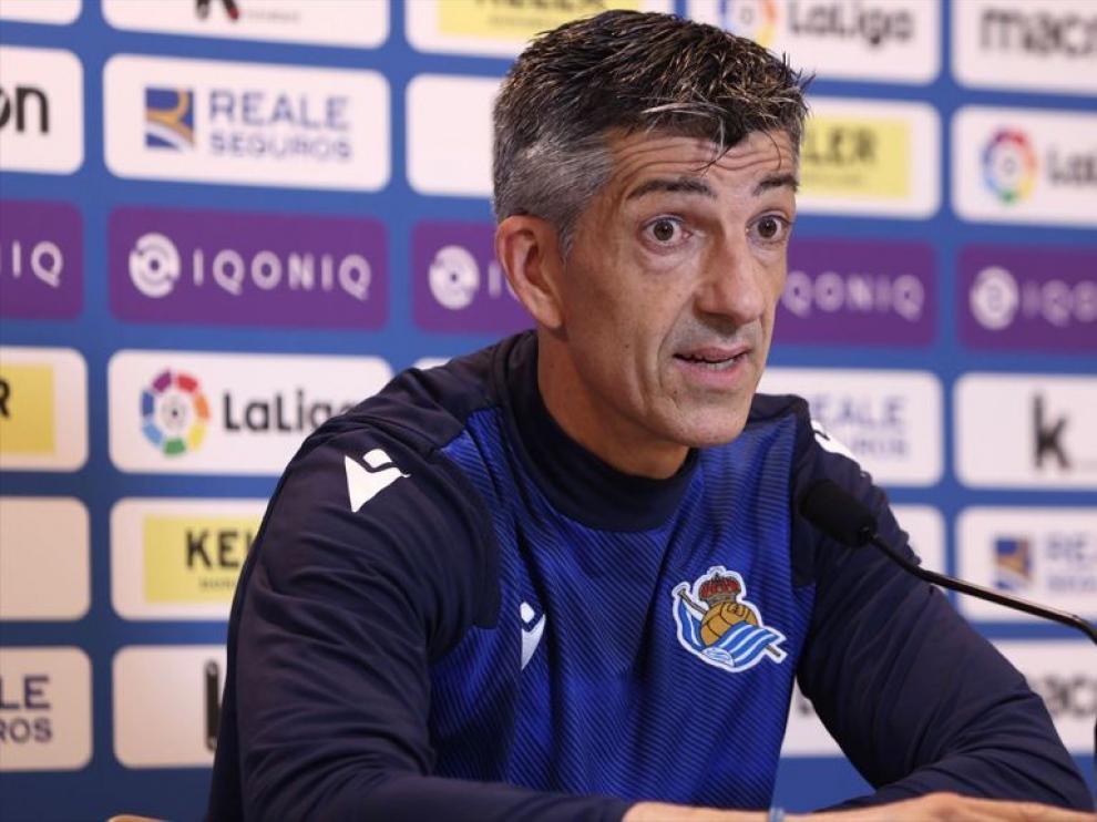 Imanol Alguacil, entrenador de la Real Sociedad.