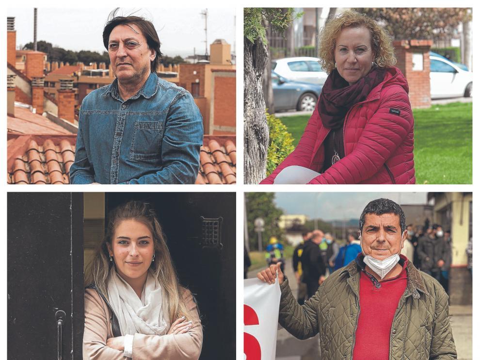Miguel Luzón, Pilar Atienza, Raquel Charles y Esteban Alconchel