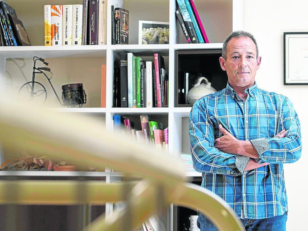 Miguel Zoco en la sede de Casa de Ganaderos.