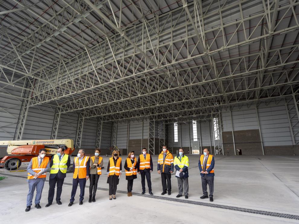 Nueva nave hangar de pintura en el aeropuerto de Teruel. Foto Antonio Garcia/Bykofoto. 29/04/21[[[FOTOGRAFOS]]]