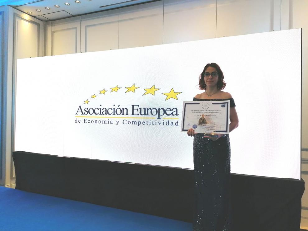 La abogada Raquel Ginés Joven, con despacho en Zaragoza, recibe un premio nacional de Legislación y Jurisprudencia Alfonso X El Sabio, en Madrid.