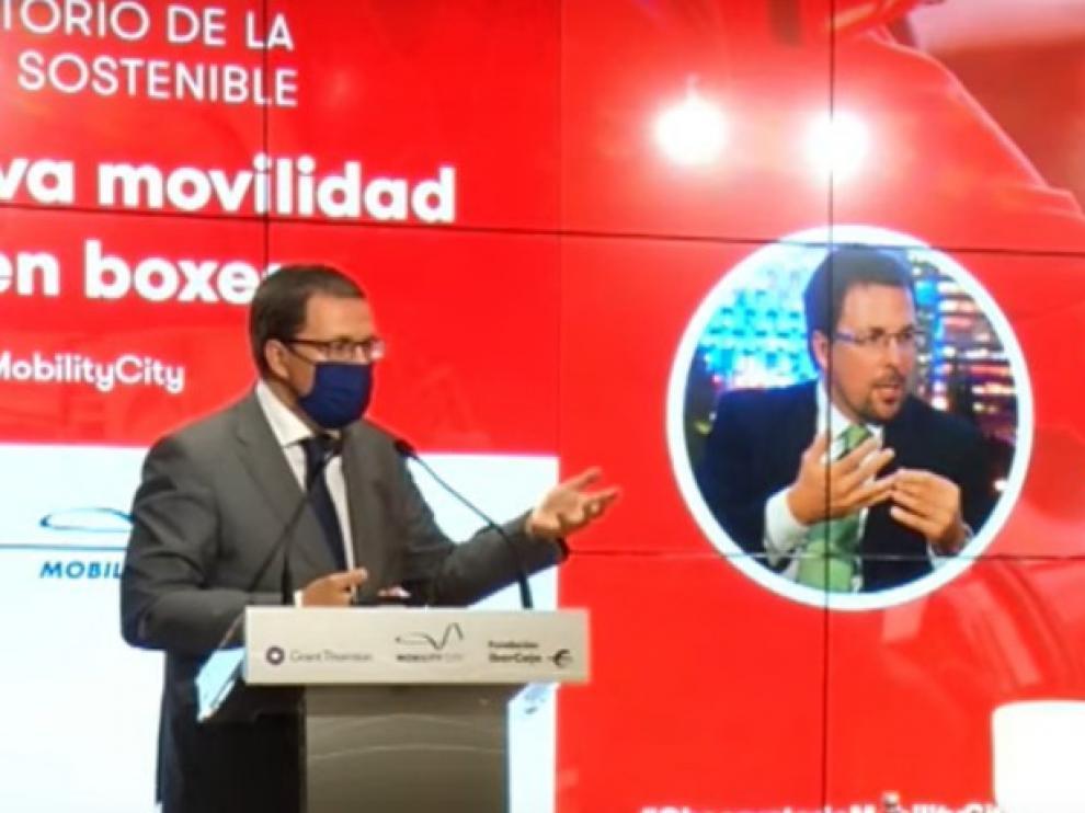 Raúl Blanco, durante su intervención en el foro de Mobility City en Madrid.