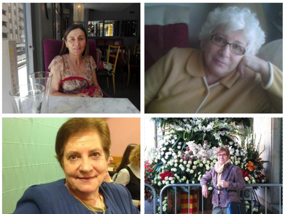 De izquierda a derecha y de arrhiba a abajo: Estefanía Escobar, Aurora Buil, Andresa Bailo y Rosa María Gimeno.