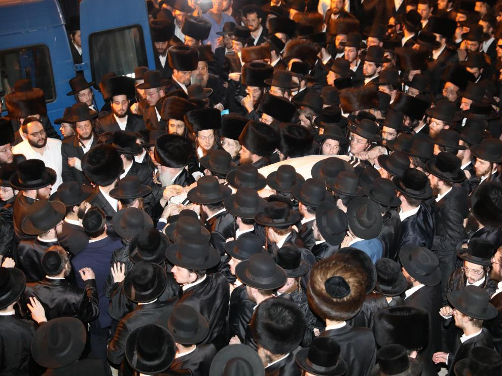 Funeral of ultra-Orthodox killed during Lag B'Omer event in Mount Meron