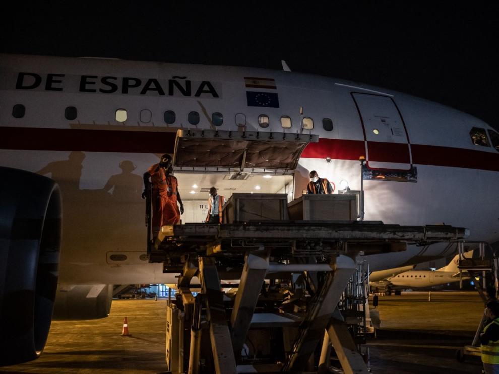 Repatriación de los cadáveres de los dos periodistas