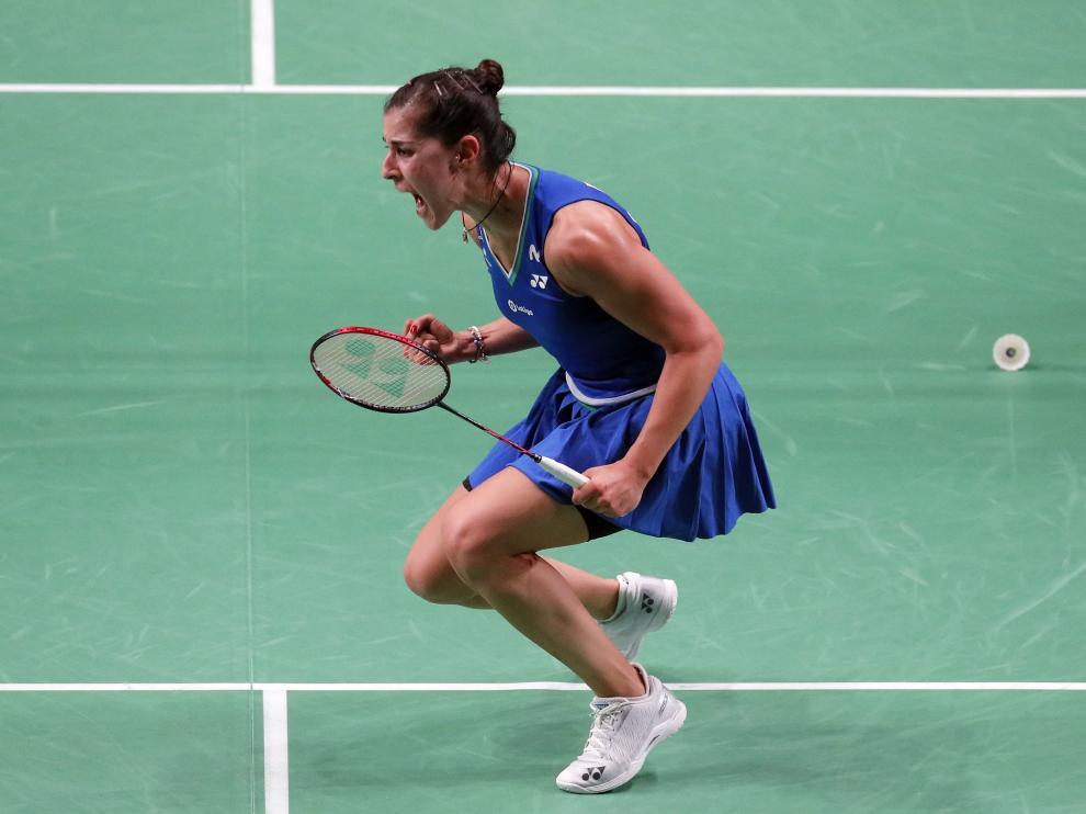 Carolina Marín, tras ganar este nuevo Europeo.
