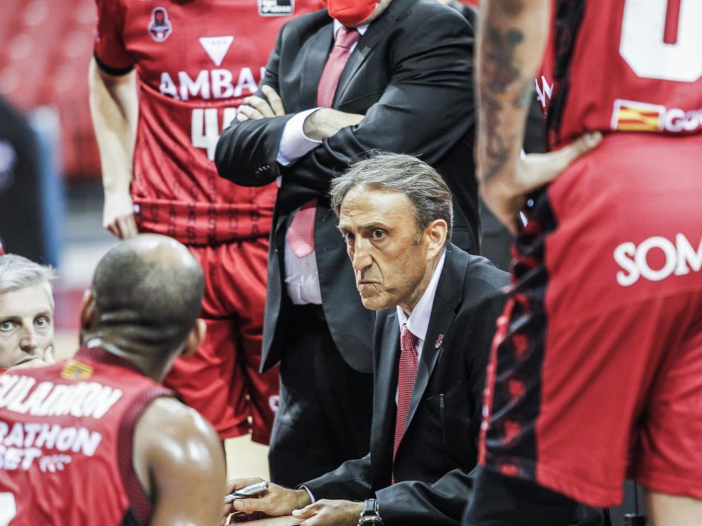 Luis Casimiro, entrenador del Casademont Zaragoza.