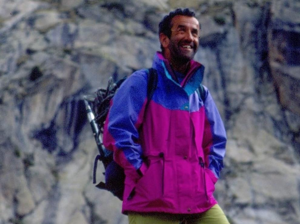 Foto de archivo de José Aranda, emblemático montañero nacido en Málaga pero afincado en el valle de Benasque desde hace más de 40 años.