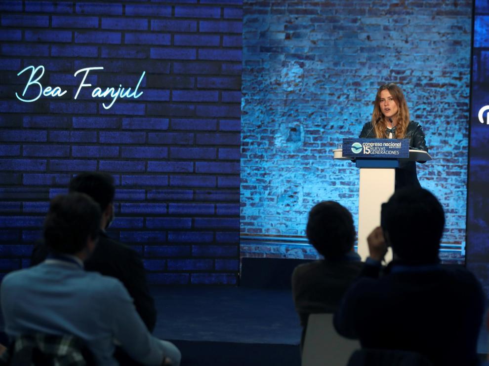 La presidenta de las Nuevas Generaciones del PP, Bea Fanjul.