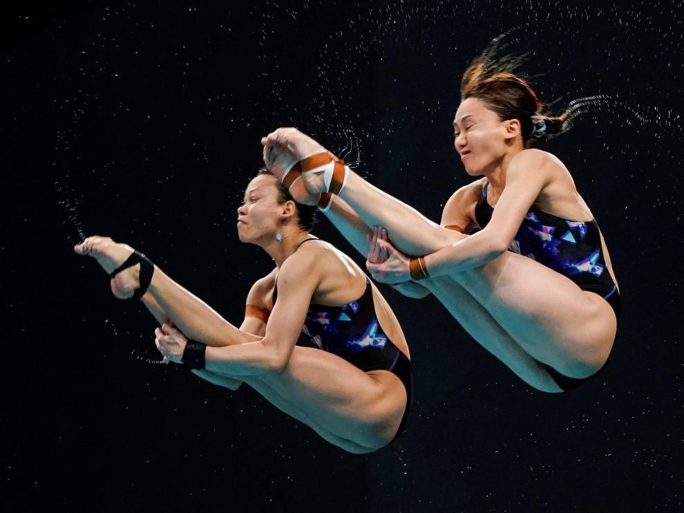 Saltos de trampolín para buscar plaza en las Olimpiadas de Tokio.