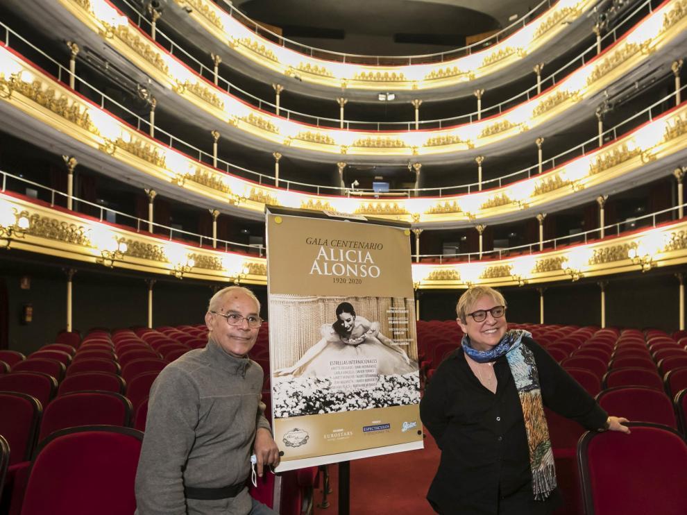 Lázaro Carreño y Mayda Bustamante, artífices de la gala en recuerdo de Alicia Alonso en el Principal.