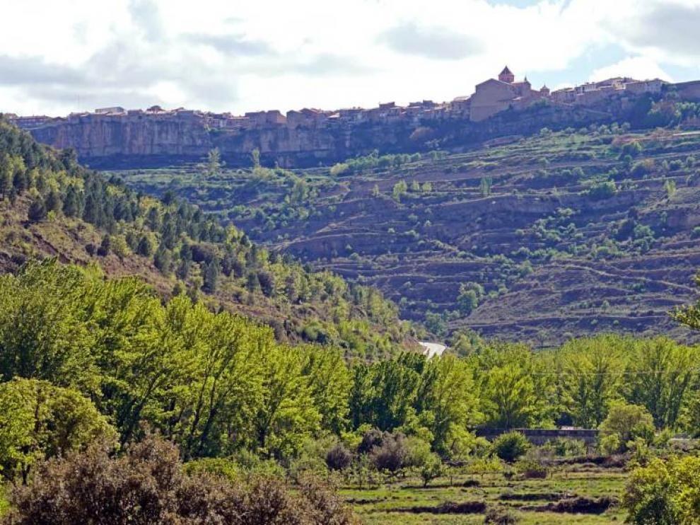 El proyecto presentado en Cantavieja contempla una tirolina de 812 metros de longitud