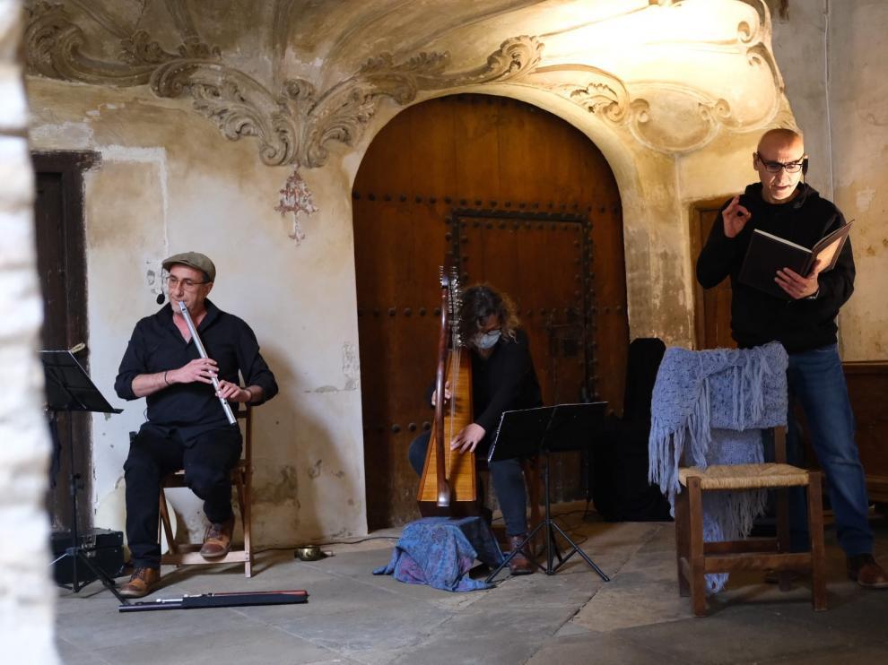 Un momento de las representaciones en el convento del Santo Sepulcro.