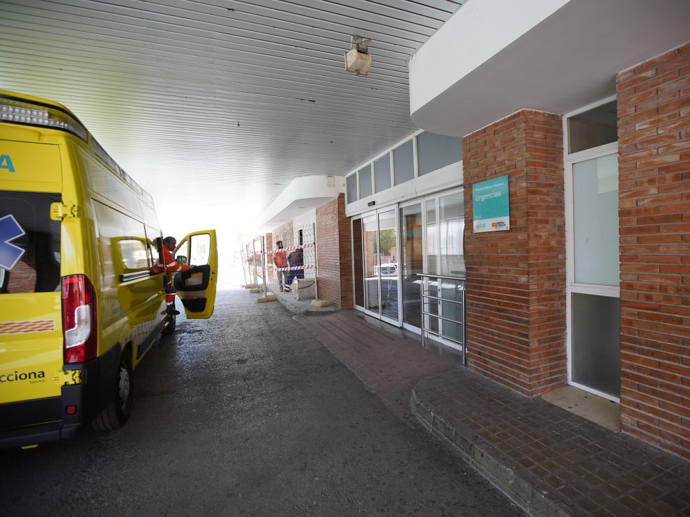 Inicio obras en urgencias del hospital Obispo Polanco de Teruel. FotoAntonio Garcia/bykofoto. 26/03/19 [[[FOTOGRAFOS]]][[[HA ARCHIVO]]]