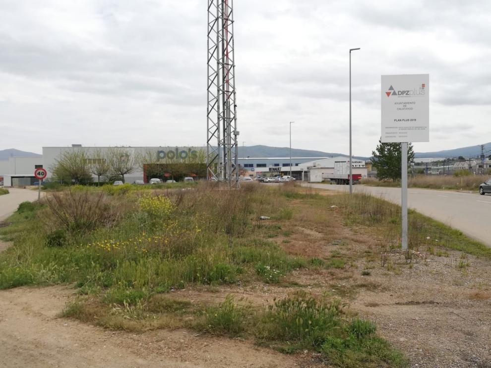 Parcela del polígono Mediavilla de Calatayud donde se llevarán acabo los proyectos