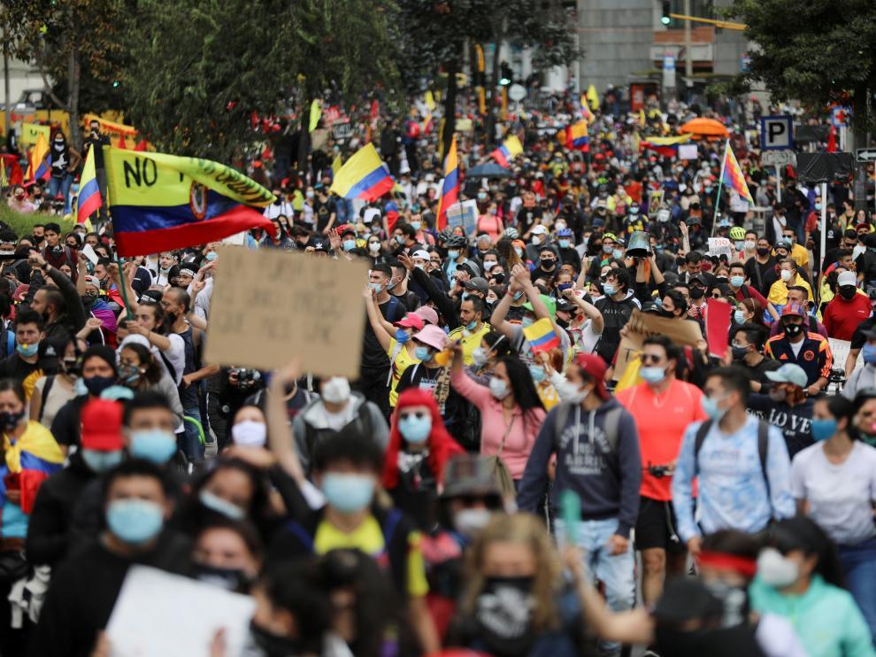 Protestas en Colombia contra la reforma tributaria de Duque