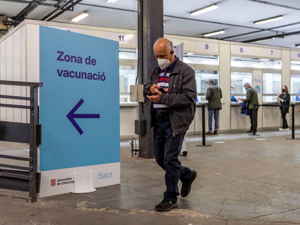 Vacunación contra el coronavirus en Cataluña.