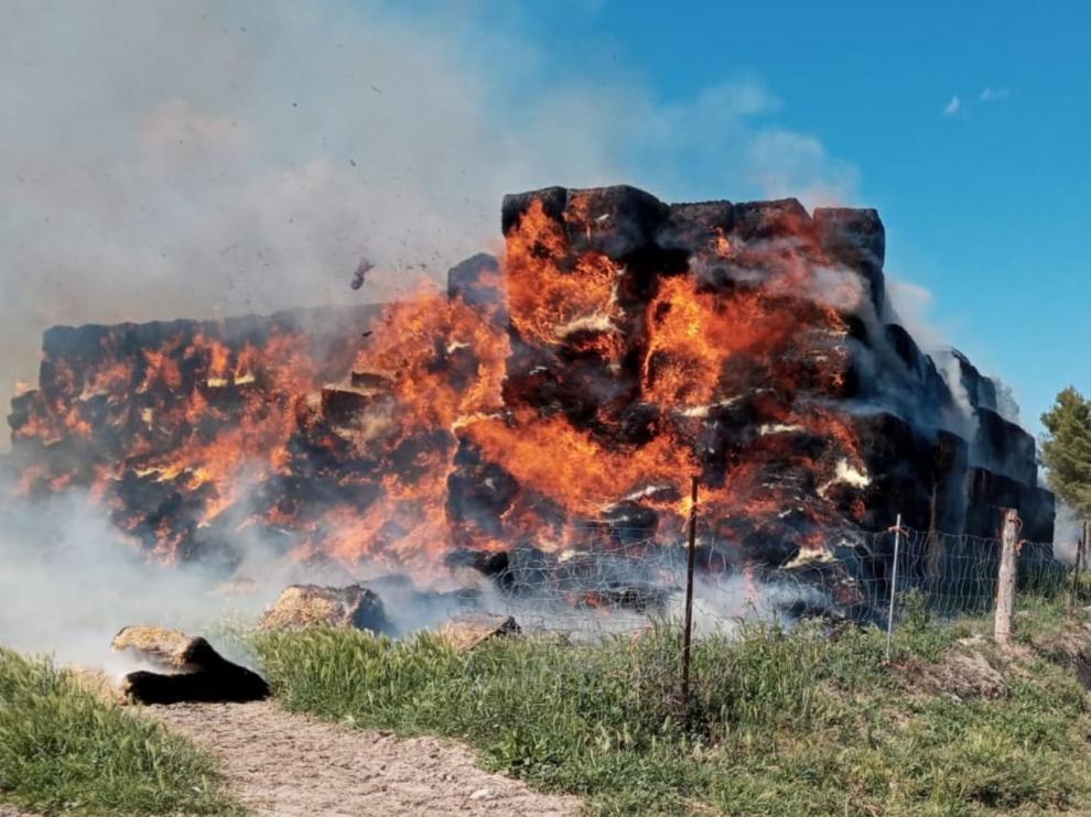 El incendio ha ocurrido en el barrio taustano de Sancho Abarca.