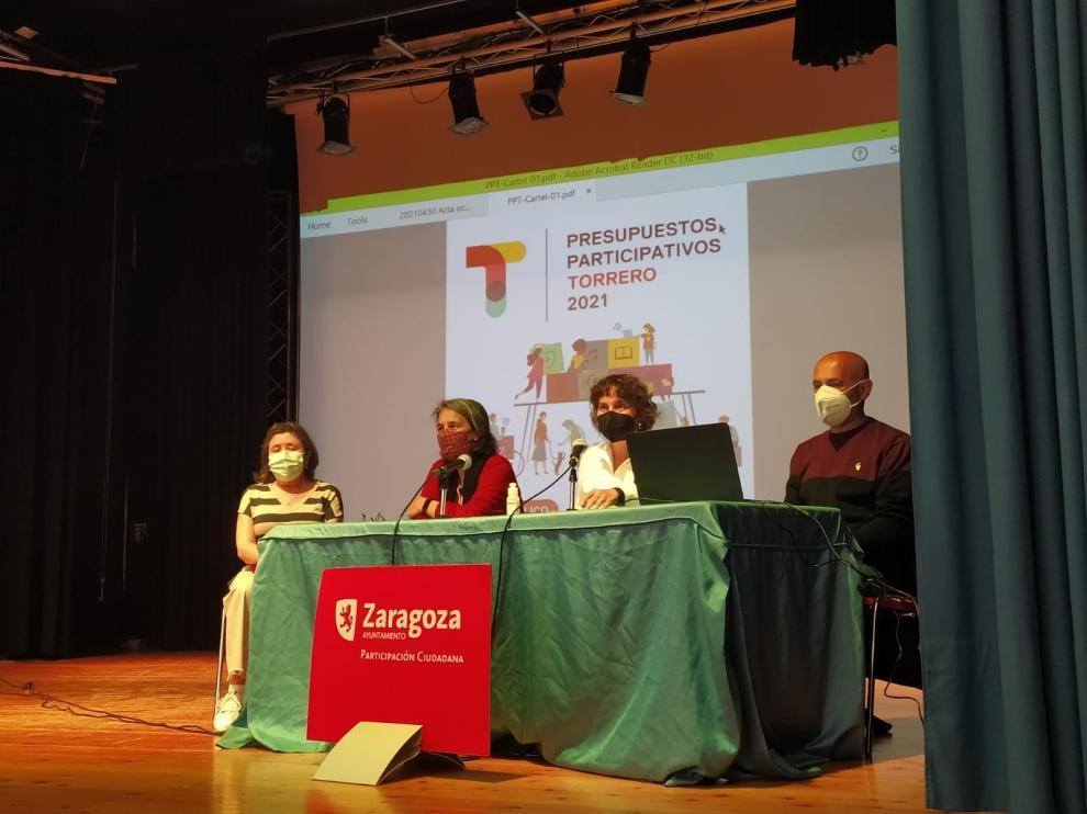 Presentación de los presupuestos participativos de Torrero