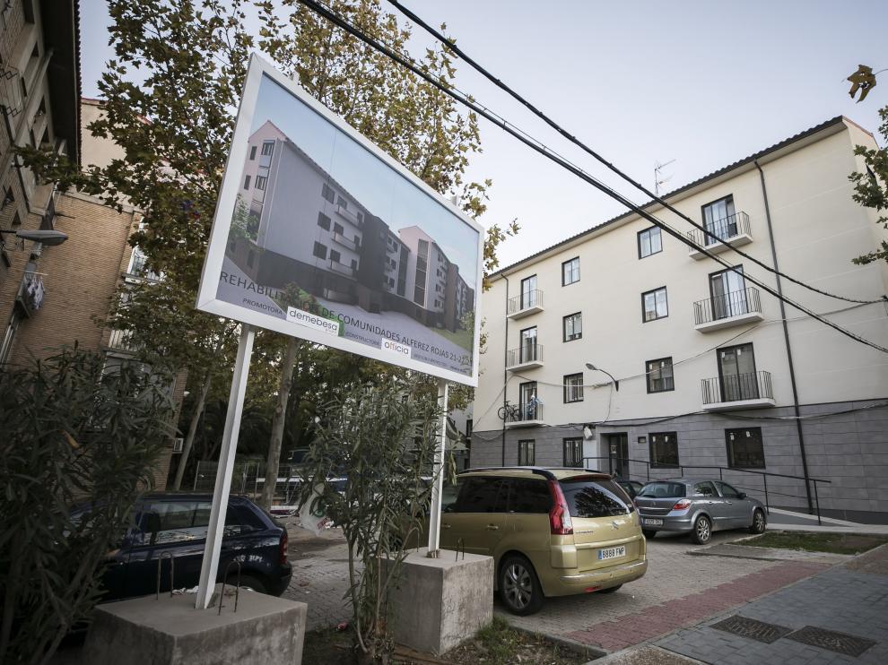 Viviendas rehabilitadas en Zaragoza.