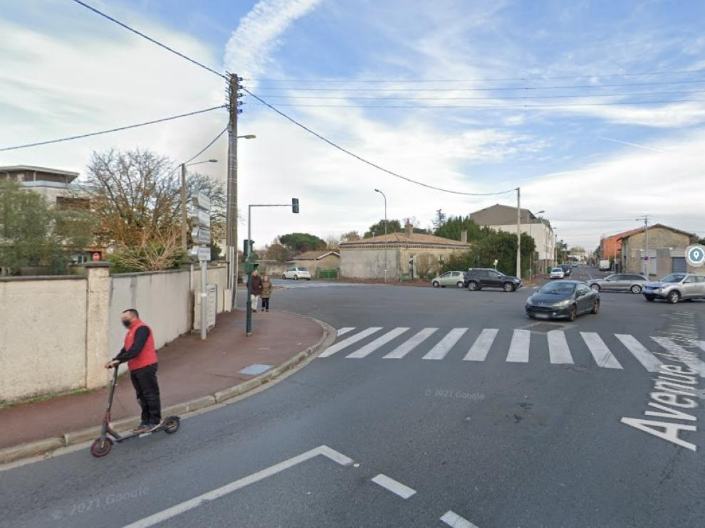 Una calle de la localidad de Mérignac, cerca de Burdeos, donde ocurrieron los hechos.