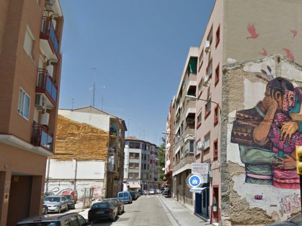Vista de la calle Jacinto Corralé, en el barrio Jesús de Zaragoza