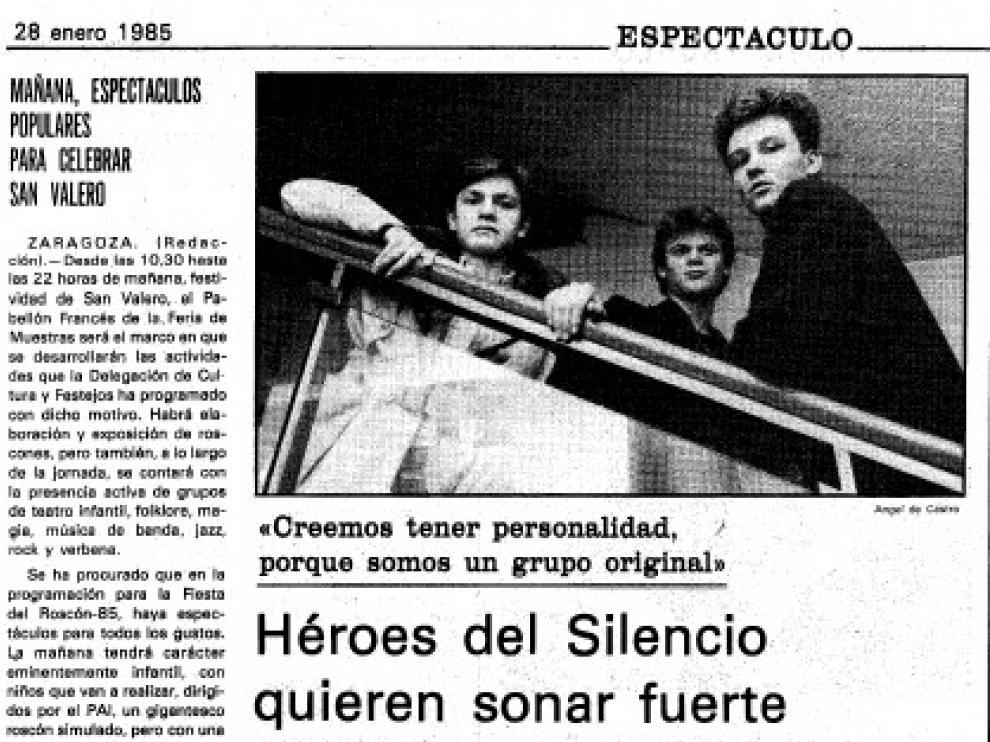 La entrevista aparecida en HERALDO el lunes 28 de enero de 1985.
