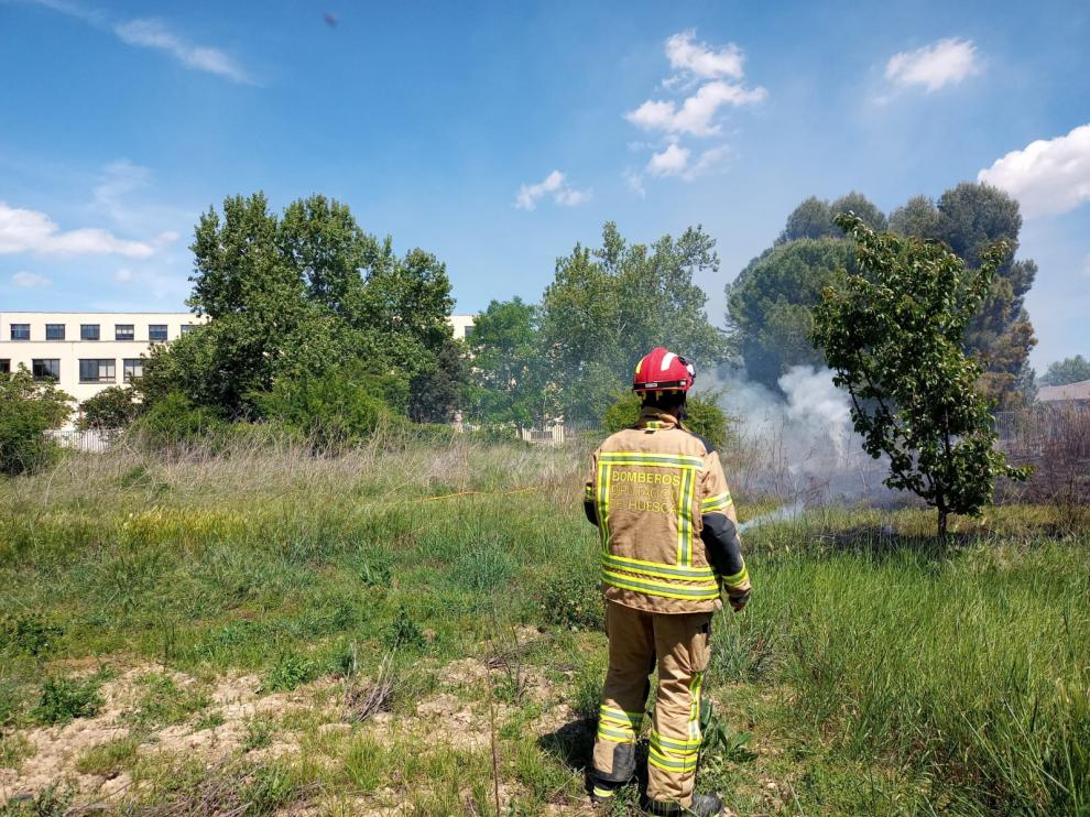 Incendio en Huesca