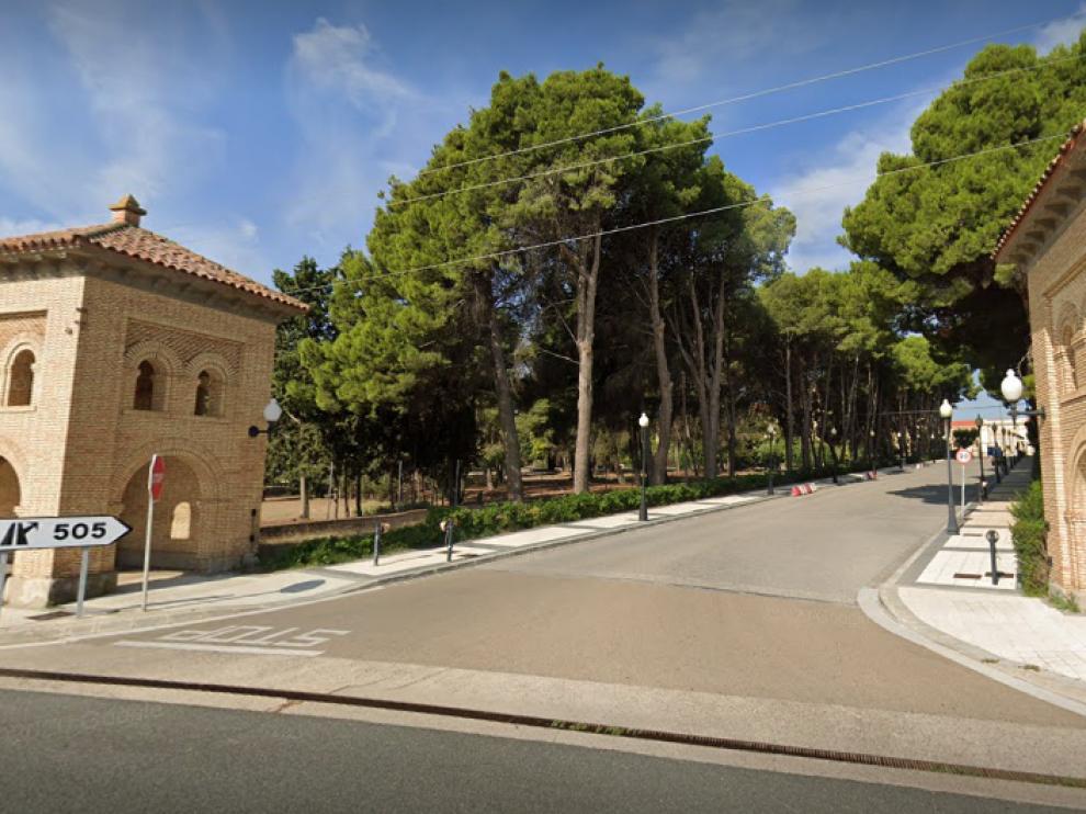 Entrada a la Academia General Militar de Zaragoza
