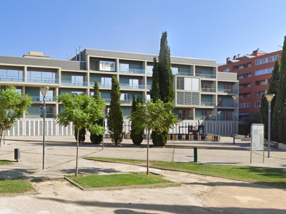Plaza de la Poesía, en Parque Goya, donde se encuentra el centro de salud.