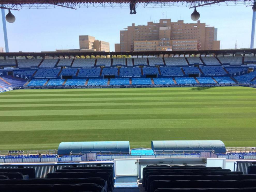 La Romareda, escenario del Real Zaragoza-Espanyol este sábado a las 18.15.