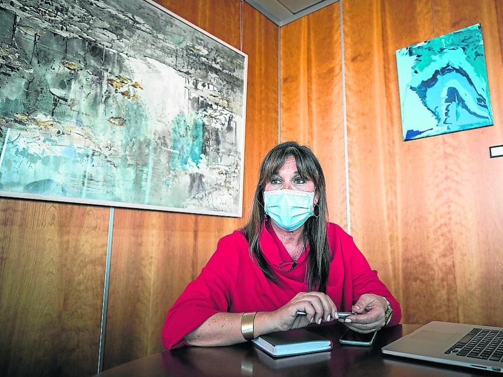 SIRA REPOLLES ( CONSEJERA DE SANIDAD DEL GOBIERNO DE ARAGON ) / 07/05/2021 / FOTO : OLIVER DUCH[[[FOTOGRAFOS]]]