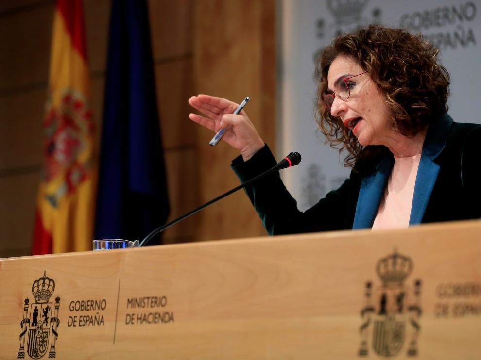 Rueda de prensa de María Jesús Montero