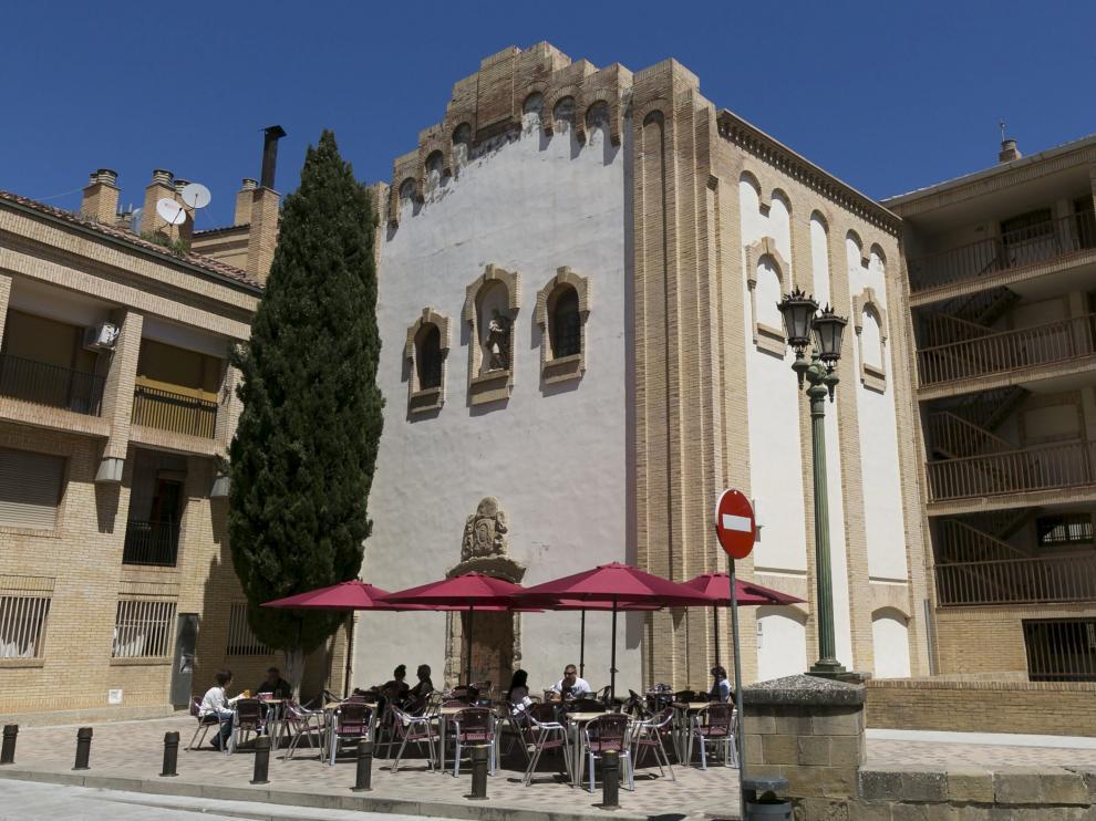 Capilla desacralizada de Santa Rosa, junto al Archivo Provincial de Huesca y donde estaba previsto ubicar el Museo Ramón y Cajal.