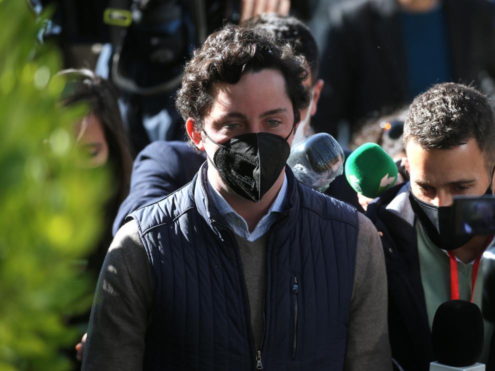 Francisco Nicolás Gómez Iglesias, 'El Pequeño Nicolás', a su llegada al juzgado