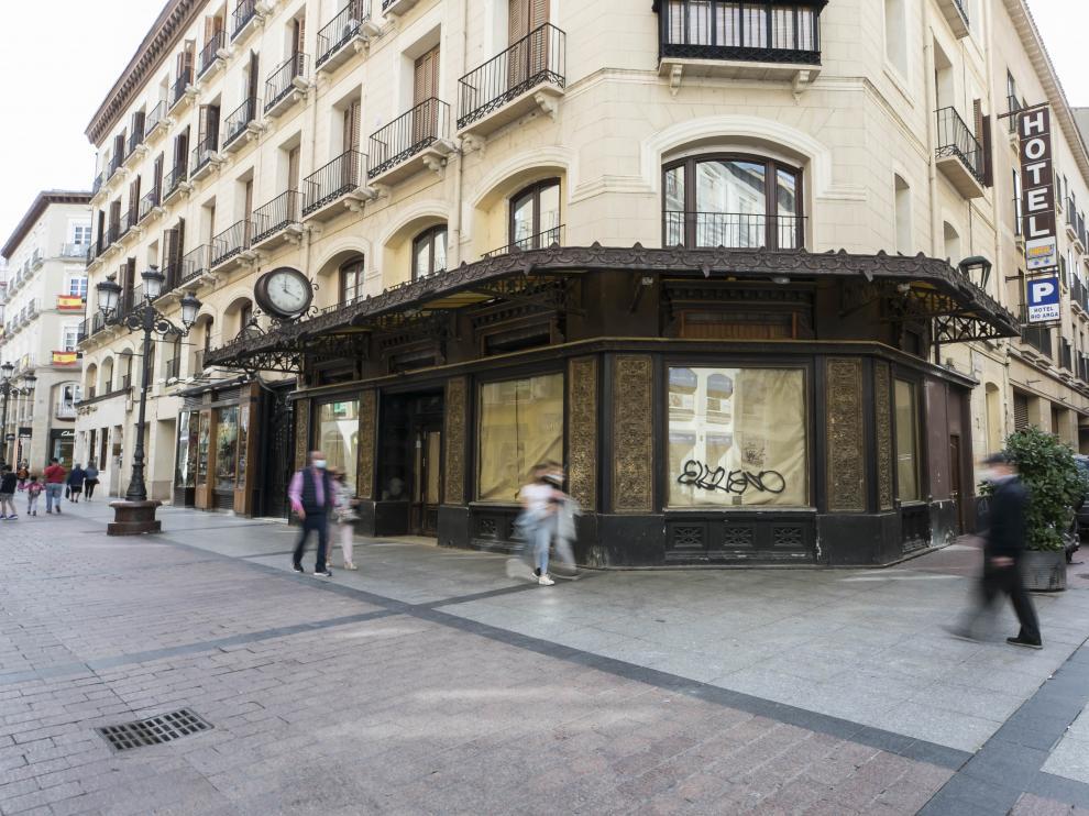 La antigua Joyería Aladrén, en la calle Alfonso de Zaragoza