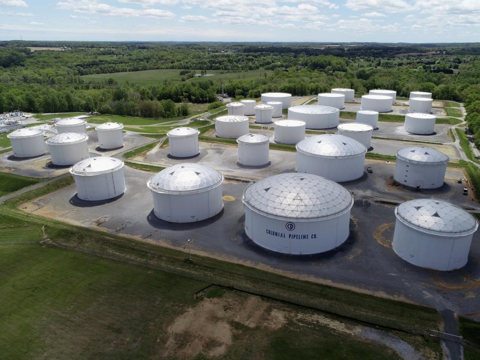 Tanques de combustible de la empresa Colonial en Estados Unidos